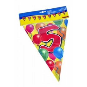 Birthday Flag Banner 5 Years Old