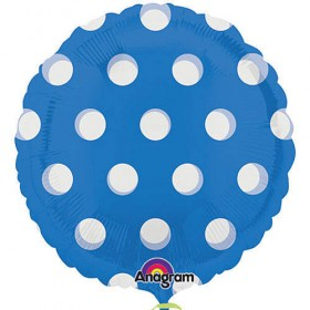 "Polka Dots Foil Balloon - 18"" (Blue)"