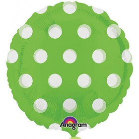 "Polka Dots Foil Balloon - 18"" (Kiwi Green)"