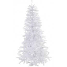 Artificial Snow Christmas Tree With Lights & Ornaments - Easy To Assemble (5 Feet)