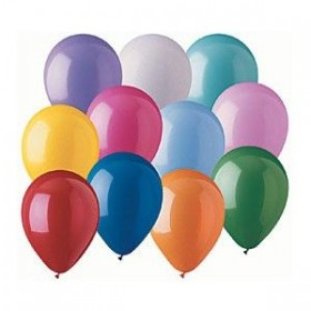 "Solid Color Assorted Latex Balloon - 5""  (Pack Of 100)"