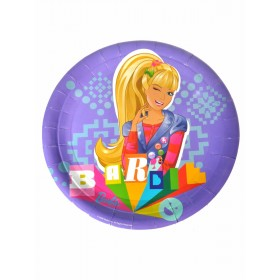 "Barbie Paper Plates - 9"" Purple - (Pack Of 10)"