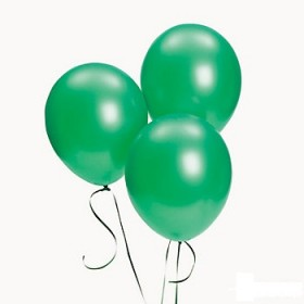 Premium Forest Green Metallic Latex Balloons (Pack Of 10) - 12""