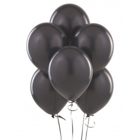 Black Color Latex Balloons (Pack Of 10)  - 12""