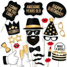 Birthday's Photo Booth - Pack of 23