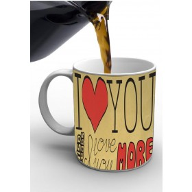 I Love You More Print Valentine Mug