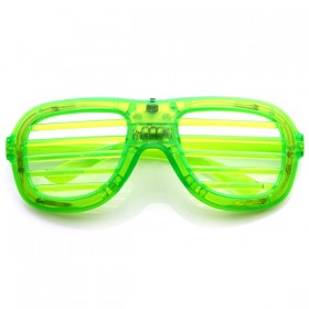 Flashing LED Shutter Shades Glasses (Green)