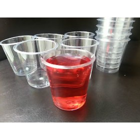 Clear Plastic Shot Glasses (Pack Of 20)