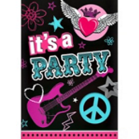 Rocker Princess Party Invitation Cards With Envelopes (Pack of 8)