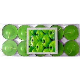 Apple Scented Candle With Metal Base (Green) - Pack of 10