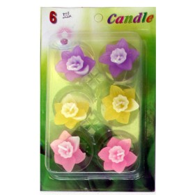 Assorted Floating Candles Design - 3 (Pack of 6)