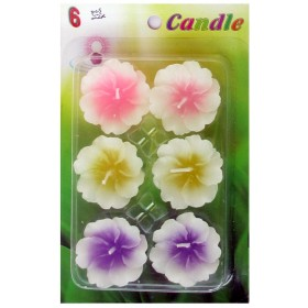 Assorted Floating Candles Design - 4 (Pack of 6)