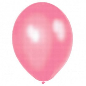 Premium Pink  Metallic Latex Balloons (Pack Of 10)  - 12""