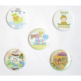Baby Shower Pin Badges ( Pack of 5)
