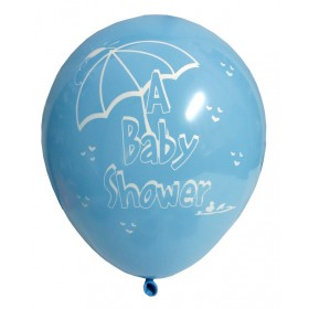 Baby Shower Party Latex Balloons - Blue (Pack Of 5)