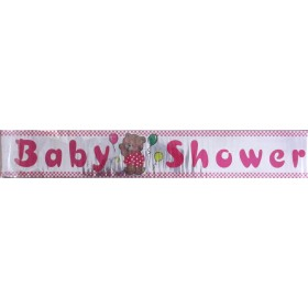 Baby Shower Party Banner - Pink