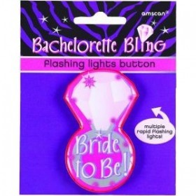 Bachelorette Bling Flashing Lights Button