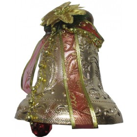 Big Size Single Bell With Ornaments (Golden)