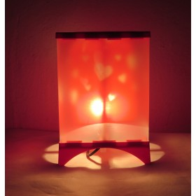 Romantic Heart Emitting Night Lamp For Valentine