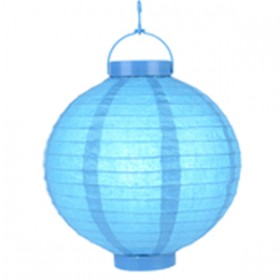 "Blue Battery Operated Lantern - 8"" (Pack Of 3)"