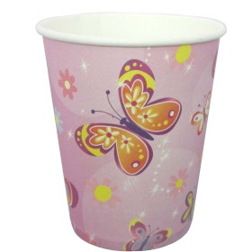 "Butterfly Theme Party Paper Cups - 9"" (Pack of 10)"