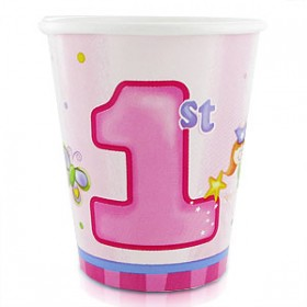 Fun At 1 Girl Party Cups (Pink)
