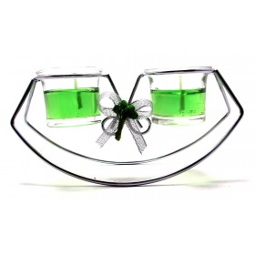 Rocking Romantic Party Candle With Stand - Green