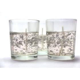 Romantic Party Candle - Silver