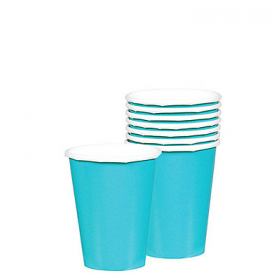 Caribbean Blue Paper Cups (Pack Of 10)