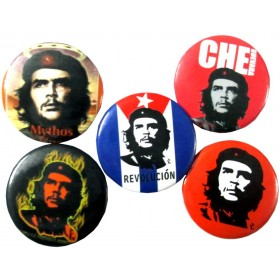 Che Guevara Pin Badges (Pack of 5)