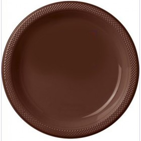 Solid Chocolate Brown Dinner Plates ( Pack Of 20)