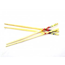 Flower Print Wooden Chopsticks (Set of 10)