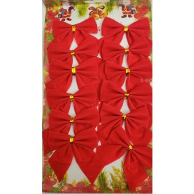 Christmas Decoration Red Bow (Pack of 12)