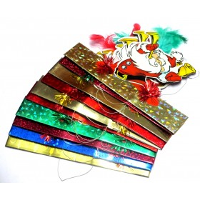 Christmas Party Santa Claus Crowns - Pack of 10