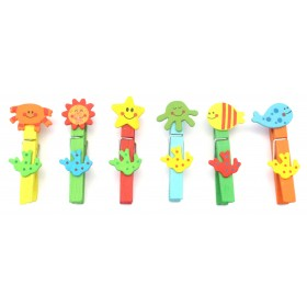 Assorted Designs Clips (Pack Of 6)