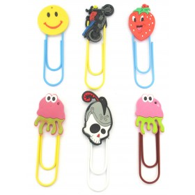 Assorted Cute Designs Clips (Pack Of 6)
