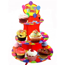 Balloon Print Cupcake Stand For 16