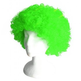 Green Frizzy Afro Wig