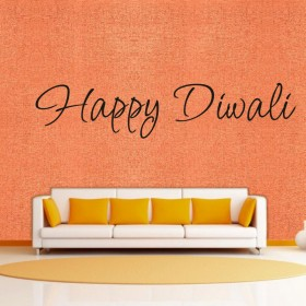 Curve Happy Diwali - Wall Sticker & Wall Decal