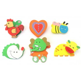 Assorted Cute Colorful Designs Clips (Pack Of 6)