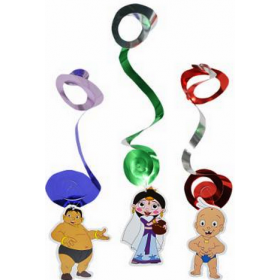 Chhota Bheem Dangling Swirls (Pack Of 3)