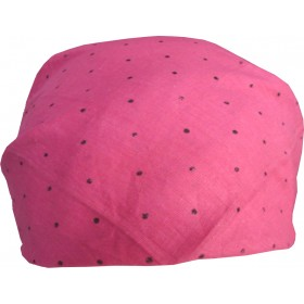 Dark Pink Bandana With Black Dots