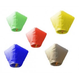 Diamond Shape Sky Lanterns (Set Of 5)