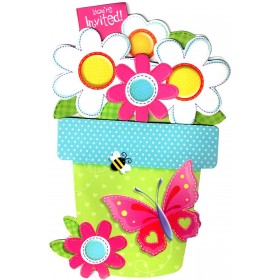 Garden Girl Invitation Cards With Envelope (Pack Of 8)