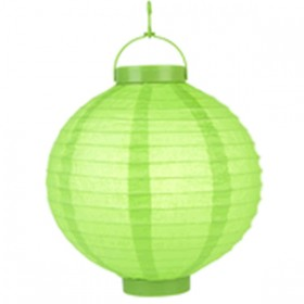 "Kiwi Green Battery Operated Lantern - 8"" (Pack Of 3)"