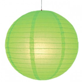 8 inch Even Round Paper Lantern (Kiwi Green) - 3 Piece