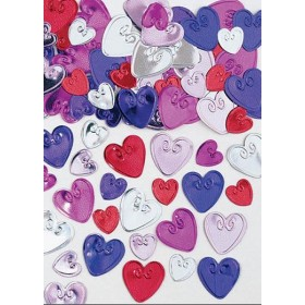 Loving Hearts Embossed Confetti