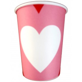 Candy Hearts Valentines Day Paper Cups (Pack Of 10)