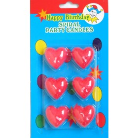 Heart Shape Candles  ( Pack of 6)