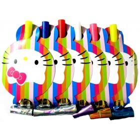 Hello Kitty Paper Horns (Pack of 6)